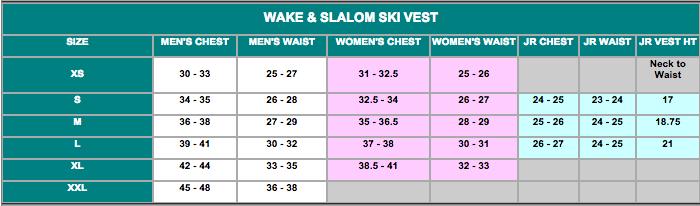 Eagle Size Chart 2