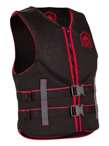 Liquid Force HINGE Classic CGA Life Vest Black/Red