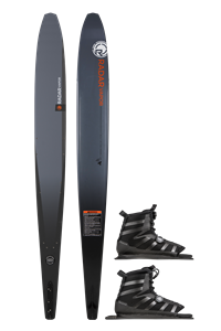 2021 Radar Graphite Vapor w/ Double BOA Vector Waterski Package