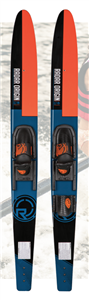 Radar Skis Origin Combos w/ Adj Horseshoe Bindings - Black / Blue / Orange