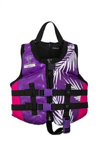 TRA Girls CGA Life Vest Vibrant Mesh Black Youth