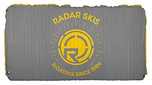 2019 Radar Skis Cloud Water Mat Silver Yellow 5 x