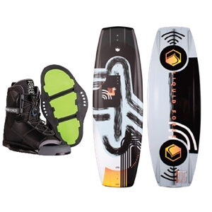 Liquid Force ME Wakeboard and Transit Bindings Package 2021