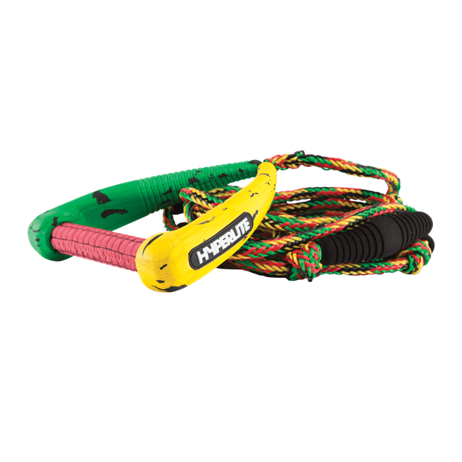 2021 Hyperlite 25' Pro Surf Rope w/ Handle Rasta