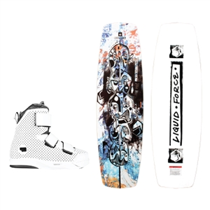Liquid Force Butterstick Pro Wakeboard and Hook 4D Bindings Package 2021