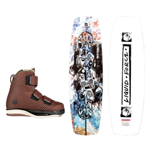 Liquid Force Butterstick Pro Wakeboard and Hook 6X Bindings Package 2021