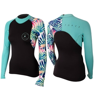 Liquid Force Eco Suit 2mm Women's Ride Top - Floral