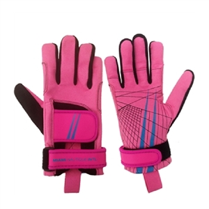 Miami Nautique Water Ski Thin Gloves in Pink v 2