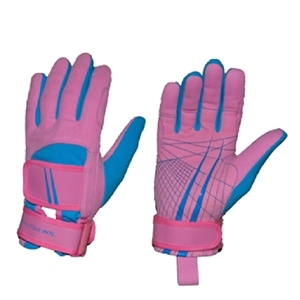 Miami Nautique Water Ski Thin Gloves in Pink and