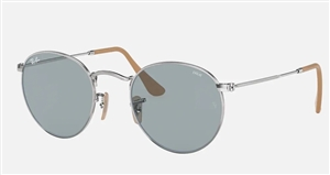 Ray-Ban Round Flat Sunglasses - Light Brown